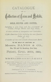 Cover of: Catalogue of a collection of coins and medals, in gold, silver and copper ... | Sampson, H.G.