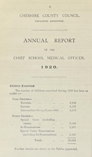 Cover of: [Report 1920]