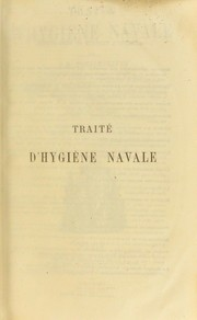 Cover of: Traite d'hygiene navale