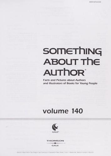 Something About the Author v. 140 by Scot Peacock