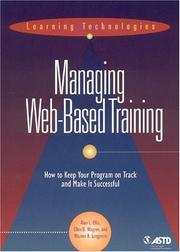 Cover of: Managing Web-based training