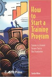 Cover of: How to start a training program