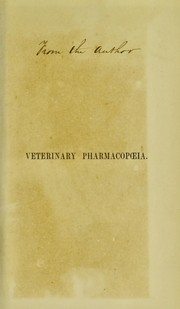 Cover of: A pharmacopoeia including the outlines of materia medica and therapeutics | Richard V. Tuson