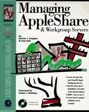Cover of: Managing AppleShare and workgroup servers