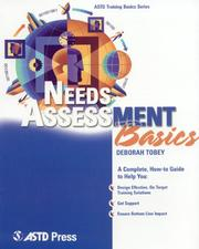 Cover of: Needs Assessment Basics (ASTD Training Basics)