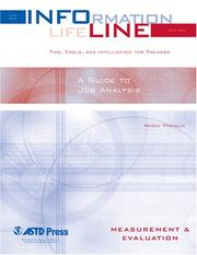 Cover of: A Guide to Job Analysis