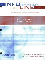Cover of: Motivating Employees