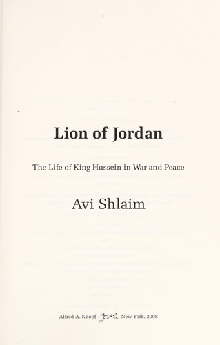 avi shlaim war and peace in the middle east