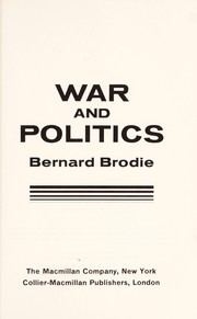 Cover of: War and politics