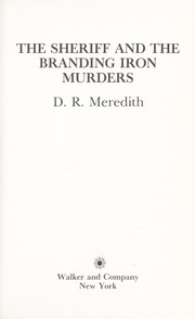 Cover of: The sheriff and the branding iron murders