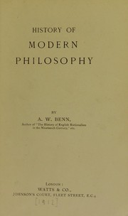 Cover of: History of ancient philosophy