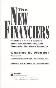 Cover of: The new financiers