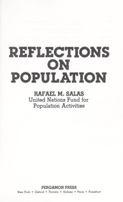 Cover of: Reflections on population | Rafael M. Salas