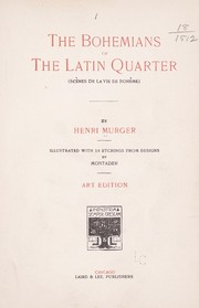 Cover of: The Bohemians of the Latin quarter