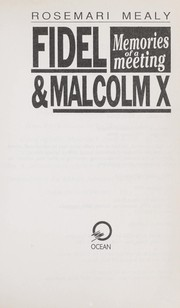 Cover of: Fidel & Malcolm X