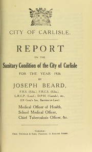 Cover of: [Report 1926]