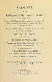 Cover of: Catalogue of the collection of Mr. Frank T. Kieffer of Syracuse, N.Y. | Wayte Raymond