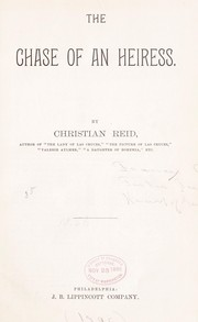 Cover of: The chase of an heiress