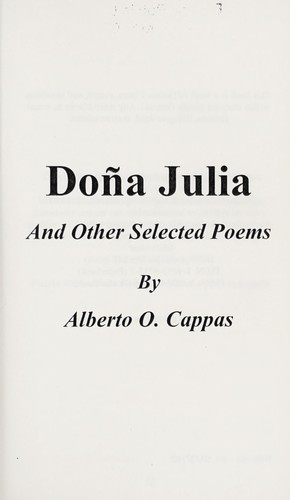 Doña Julia : and other selected poems by