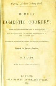 Cover of: Modern domestic cookery