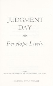 Cover of: Judgment day | Penelope Lively