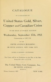 Cover of: Catalogue of a collection of United States gold, silver, copper, and Canadian coins | Boyd, F.C. C.