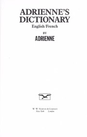 Cover of: Adrienne