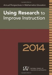 Cover of: Using Research to Improve Instruction |