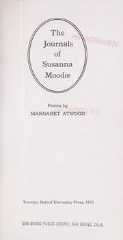 Cover of: The journals of Susanna Moodie |