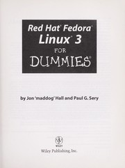 Cover of: Red Hat Fedora Linux 3 for dummies