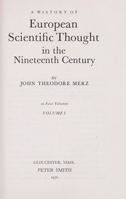 Cover of: History of European Thought in the Nineteenth Century | John Merz