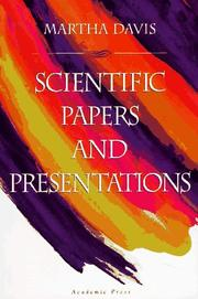 Cover of: Scientific papers and presentations