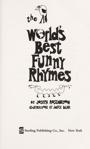 Cover of: The world's best funny rhymes