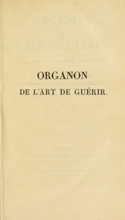 Cover of: Organon de l'art de guerir