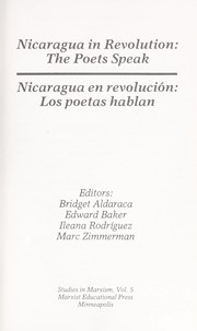 Cover of: Nicaragua in revolution |