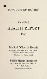 Cover of: [Report 1965] | Ruthin Town (Clwyd, Wales). Borough Council