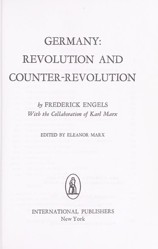 Germany: revolution and counter-revolution.