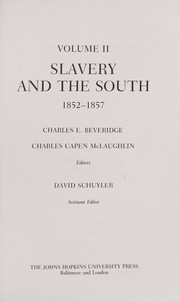 Cover of: Slavery and the South, 1852-1857
