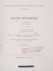 Cover of: Fluid dynamics | United States. Office of Scientific Research and Development. National Defense Research Committee