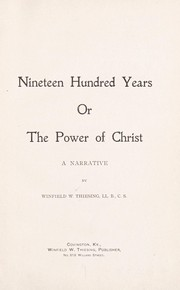 Cover of: Nineteen hundred years