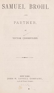 Cover of: Samuel Brohl and partner