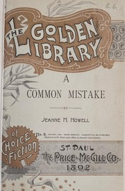 Cover of: A common mistake