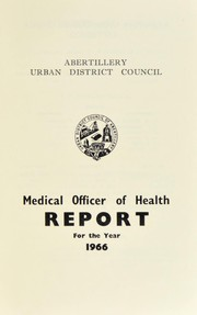 Cover of: [Report 1966] | Abertillery (Wales). Urban District Council