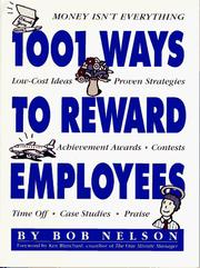 Cover of: 1001 ways to reward employees | Bob Nelson