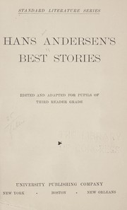 Cover of: Hans Andersen's best stories