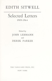 Cover of: Selected letters, 1919-1964