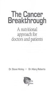 Cover of: The cancer breakthrough