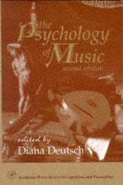 Cover of: The Psychology of Music, Second Edition (Cognition and Perception)