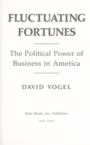 Cover of: Fluctuating fortunes | David Vogel