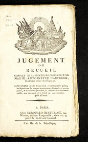 Cover of: Jugement